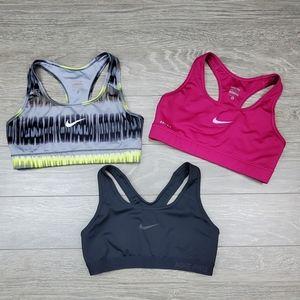 Nike Dri Fit Bundle of 3 sport bras women size S